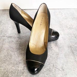 Tahari Black Heels with a Hint of Gold